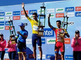 THE COLOMBIAN WALTER VARGAS WINS THE TOUR CYCLIST OF URUGUAY