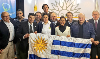 AUTHORITIES OF THE NATIONAL SECRETARIAT OF SPORT DELIVERED THE NATIONAL PAVILION TO REPRESENTATIVES OF THE URUGUAYAN CYCLING FEDERATION