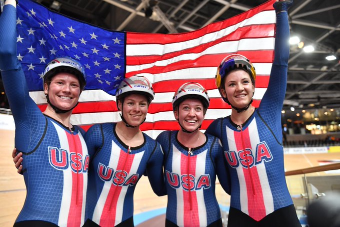U.S.A DOMAINS PERSECUTION WOMEN TEAMS IN SECOND DAY OF THE WORLD TRACK CHAMPIONSHIP