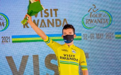 Brayan Sánchez dresses in yellow again in Rwanda
