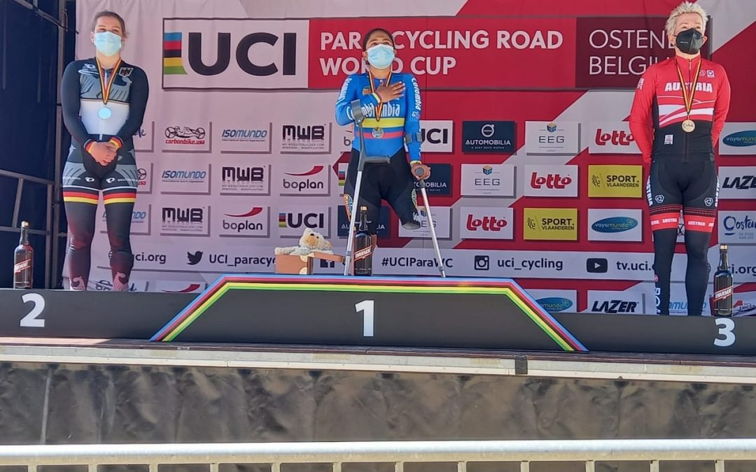Carolina and Diego, golds in Paracycling World Cup time trial