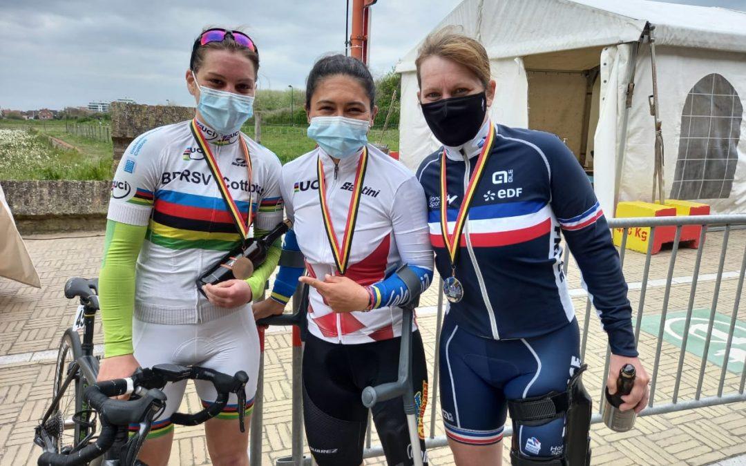 Carolina Munévar y Mariela Delgado, oros en la ruta de Copa Mundo de Paraciclismo