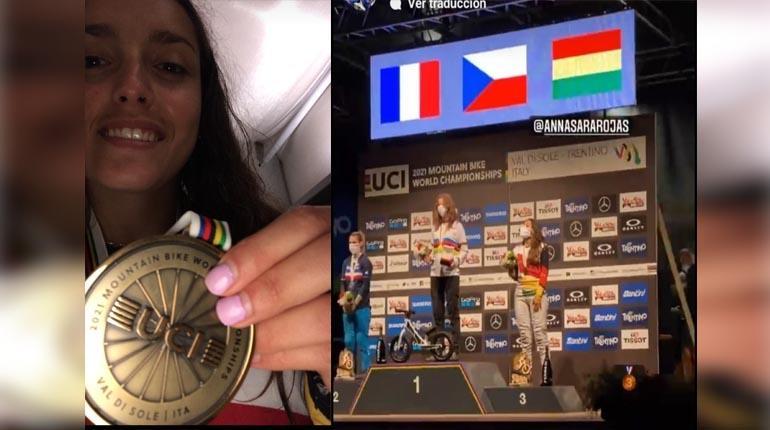 Boliviana Rojas consigue tercer lugar en campeonato mundial Four Cross en Italia