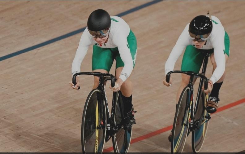 Sexto lugar olímpico para México en velocidad por equipo (f)