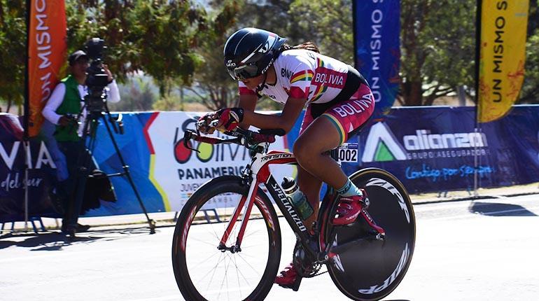 La pedalista cochabambina Abigail Sarabia. | Carlos López
