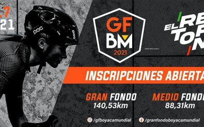 1700 participants for the Gran Fondo Boyacá Mundial 2021 THE RETURN