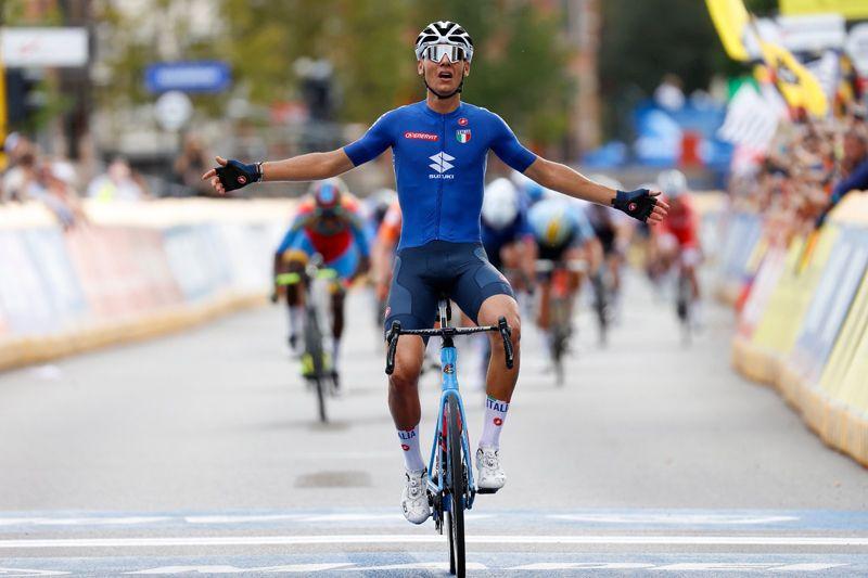 The world champion of the U23 route is Fillippo Baroncini
